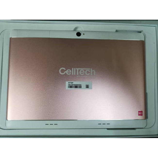 "CELLTECH KT-101 [3GB RAM + 32GB ROM] 3G DUAL SIM TABLET 10.1"" (PINK)"