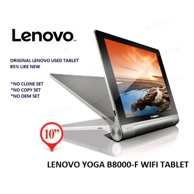 """[USED] LENOVO YOGA TAB (B8000-F) 16GB [WIFI] TABLET 10.1"""""""